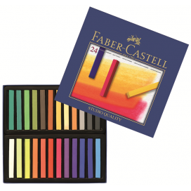 Faber-Castell Soft Pastels, cardboard box of 24