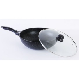 Queen Sense 32cm Wok with glass lid