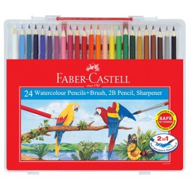 Faber-Castell Watercolour Pencil- Wonder Box of 24 Long