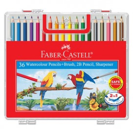 Faber-Castell Watercolour Pencil- Wonder Box of 36 Long