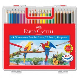 Faber-Castell Watercolour Pencil- Wonder Box of 48 Long