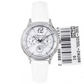 Casio Sheen Swarovski White Womens Watch
