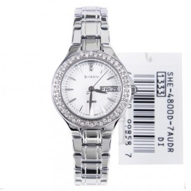 Casio Sheen Silver Swarovski Ladies Watch