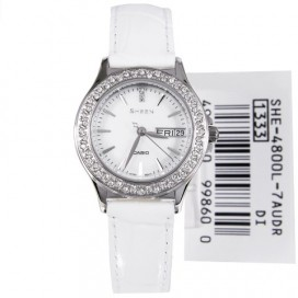 Casio Sheen White Swarovski Womens Watch